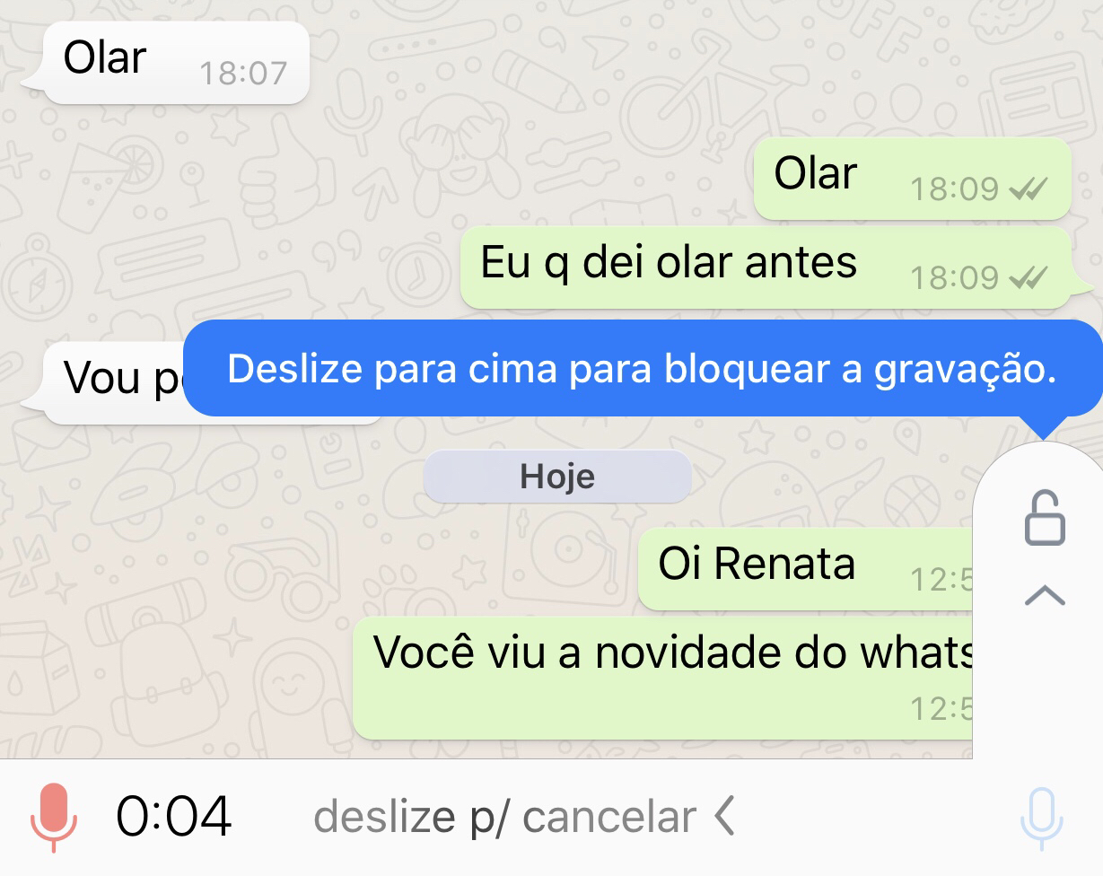 Whatsapp trava de áudio