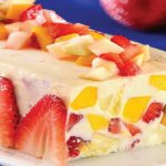 Terrina de chocolate branco com frutas