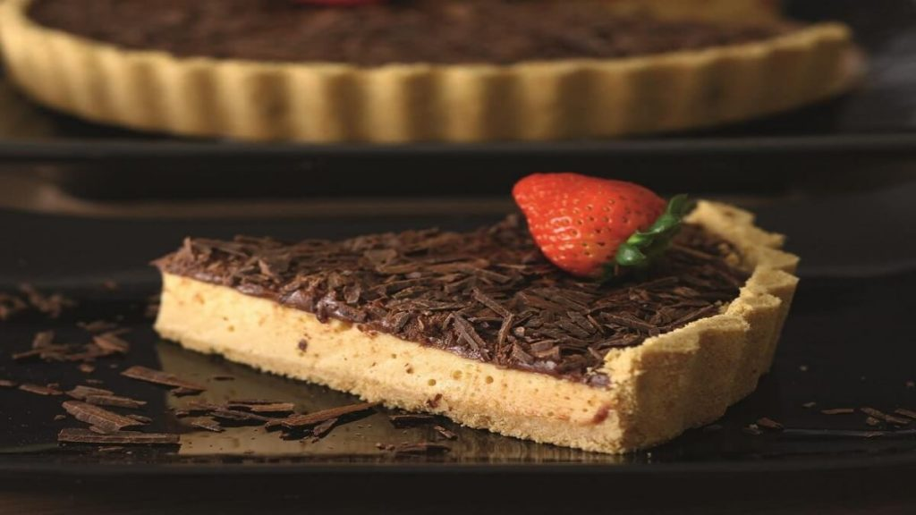 Cheesecake de doce de leite e chocolate